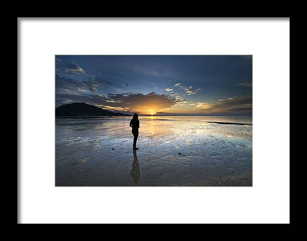 Landscape Framed Print featuring the photograph Sunset At Phuket Island by Ng Hock How