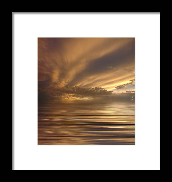 Sunset Framed Print featuring the photograph Sunset At Sea by Jerry McElroy