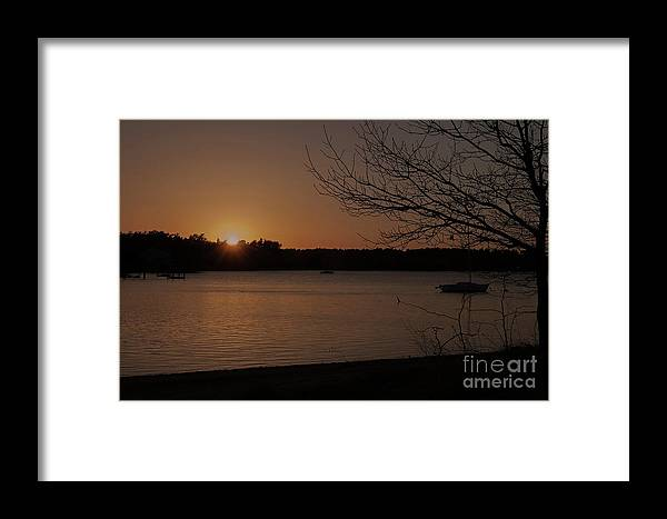 Photography Framed Print featuring the photograph Sunset At Shell Point by Sharon Mayhak