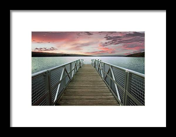 Sunset Framed Print featuring the photograph Sunset At Stewart Park by Jessica Jenney
