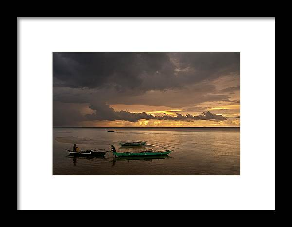 Seascape Framed Print featuring the photograph Sunset At Tabuena Beach 1 by George Cabig