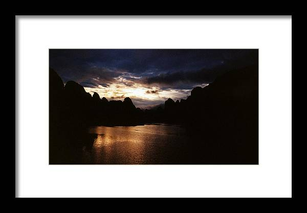 Sunset Framed Print featuring the photograph Sunset At Yangshuo In China by Gosta Eger