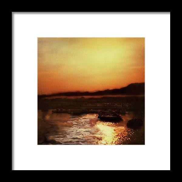 Paul Tokarski Framed Print featuring the photograph Sunset Bay by Paul Tokarski