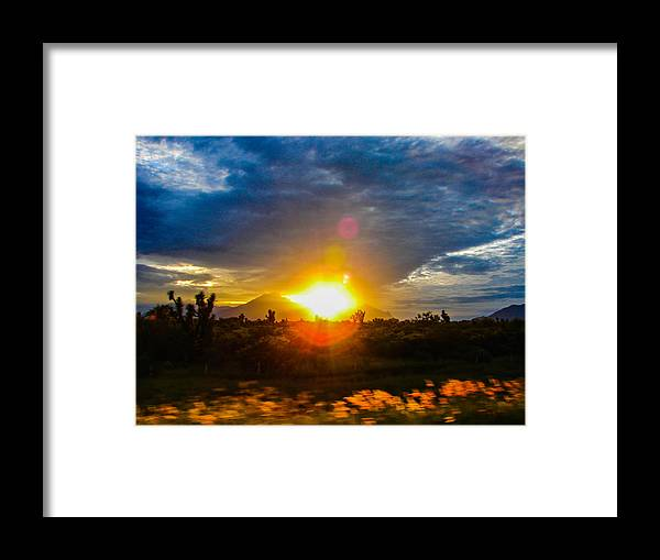 Sunset Framed Print featuring the photograph Sunset by Odilia Ruiz