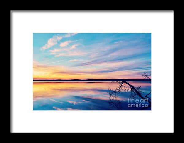Sunset Framed Print featuring the photograph Sunset Bliss by Kelly Nowak
