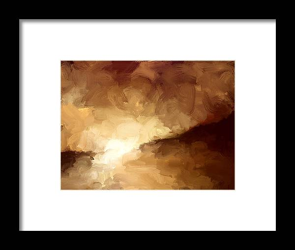 Sunset Framed Print featuring the painting Sunset by Bruce Young