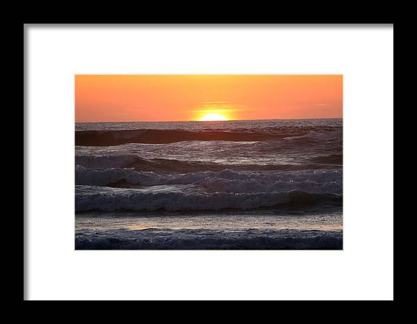 Sunset Framed Print featuring the photograph Sunset Cannon Beach by Nick Gustafson