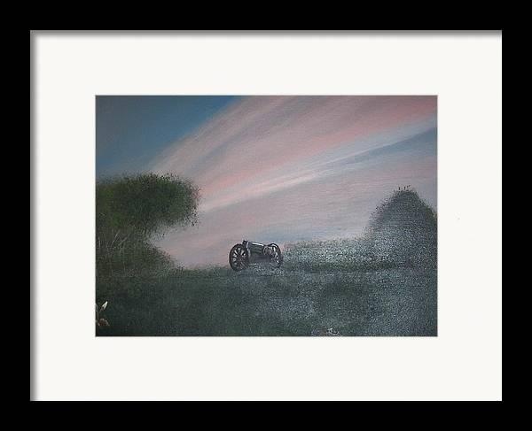 Sunset Framed Print featuring the painting Sunset Canon by Rana Adamchick