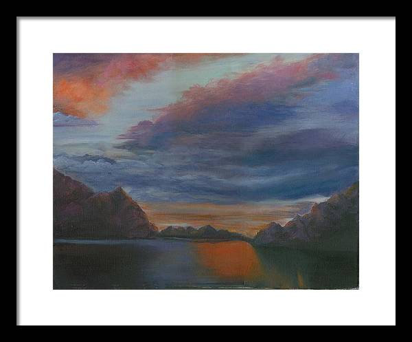 Sunset Clouds Framed Print featuring the print Sunset Clouds by George Markiewicz