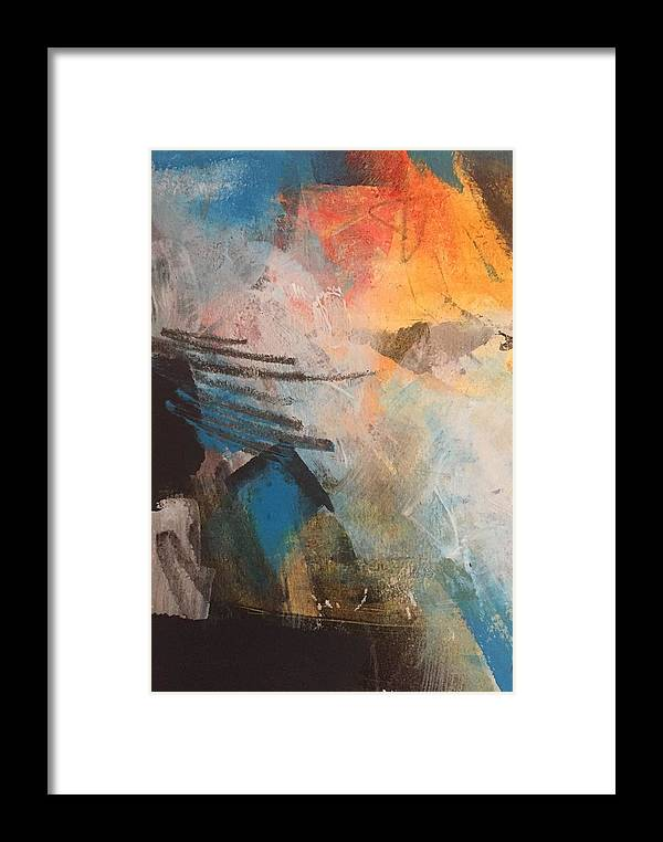 Abstract Framed Print featuring the painting Sunset Cruise by Karen Kuykendall