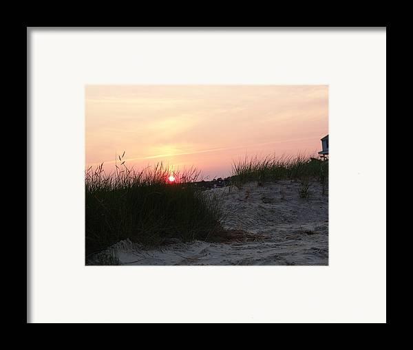 Dewey Beach Framed Print featuring the photograph Sunset Dewey Beach by Kevin Callahan