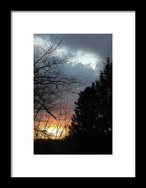 Digital Framed Print featuring the photograph Sunset Display by Kicking Bear Productions
