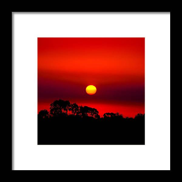 Landscape Framed Print featuring the photograph Sunset Dreaming by Az Jackson