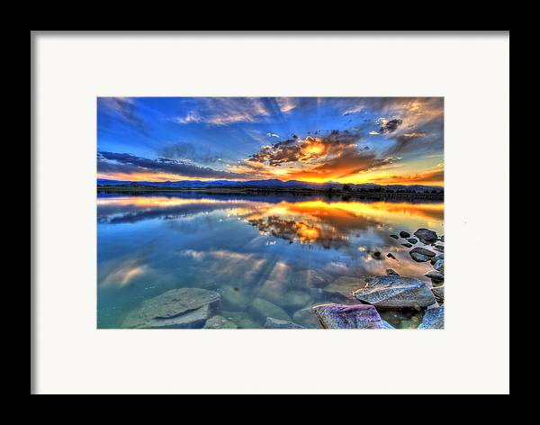Colorado Framed Print featuring the photograph Sunset Explosion by Scott Mahon