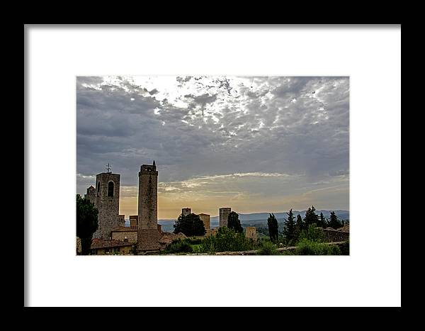 Sunset Framed Print featuring the photograph Sunset From San Gimignano by Jean Haynes