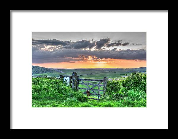 Steep Framed Print featuring the photograph Sunset Gate by Hazy Apple