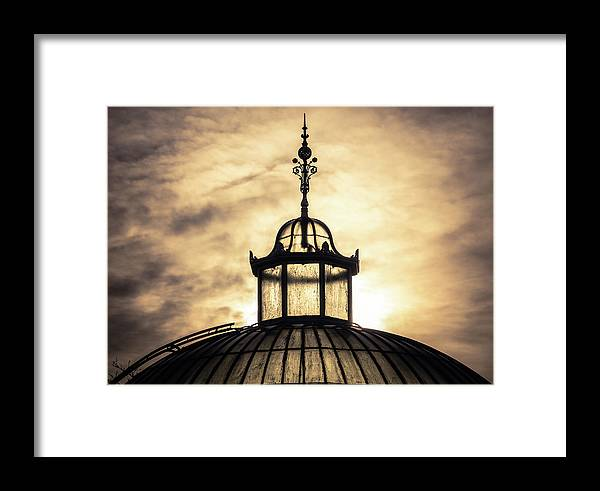 Beautiful Framed Print featuring the photograph Sunset Glasshouse In Winter by Mr Doomits