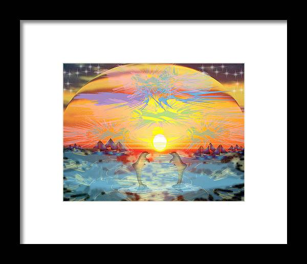 Nature Framed Print featuring the digital art Sunset IIi by George Pasini