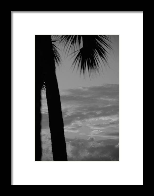 Black And White Framed Print featuring the photograph Sunset In Black And White by Rob Hans