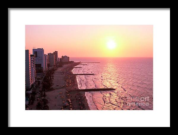 Cartagena Sunset Framed Print featuring the photograph Sunset In Cartagen by John Rizzuto