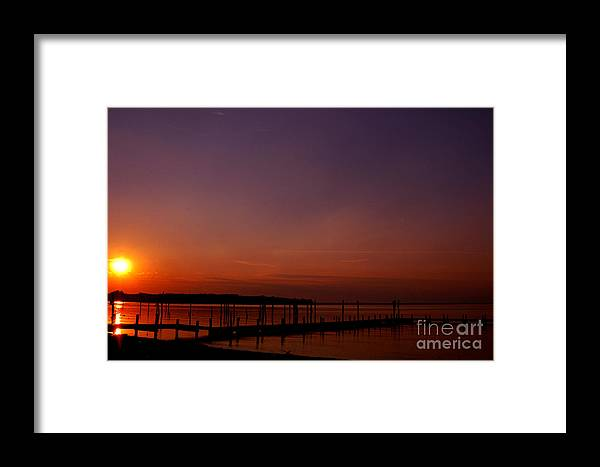 Clay Framed Print featuring the photograph Sunset In Colonial Beach by Clayton Bruster