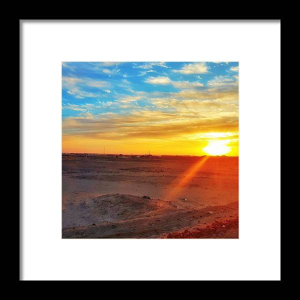 Sunset Framed Print featuring the photograph Sunset In Egypt by Usman Idrees