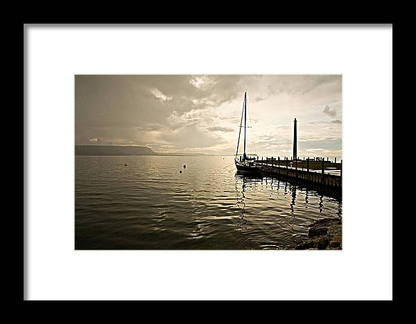 Wisconsin Framed Print featuring the photograph Sunset In Ephriam by Carl Jackson