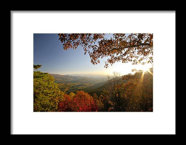 Sunset Framed Print featuring the photograph Sunset In Great Smoky Mountains by Darrell Young