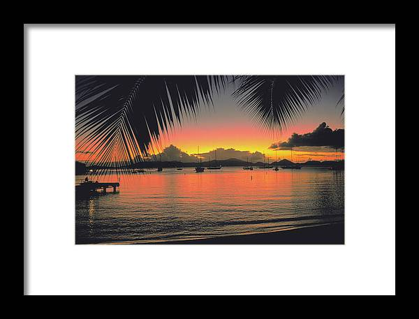 Sunset Framed Print featuring the photograph Sunset In Key West Florida by Carl Purcell