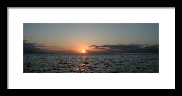Sunset Framed Print featuring the photograph Sunset In Maui by Bj Hodges