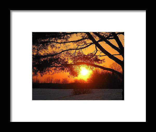 Sunset Framed Print featuring the photograph Sunset In Rising Sun by Martie DAndrea
