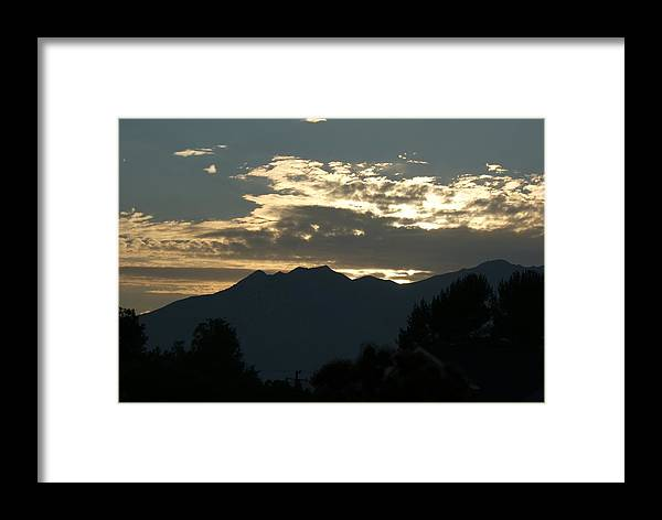 Sunset Framed Print featuring the photograph Sunset In Summer by Liz Vernand