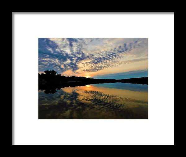 Sunset Framed Print featuring the photograph Sunset In The Pinelands by Jerry O'Rourke
