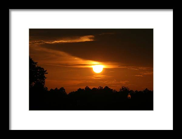 Landscape Framed Print featuring the photograph Sunset In The South by Greg Sharpe