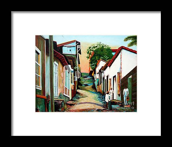 Cuban Art Framed Print featuring the painting Sunset by Jose Manuel Abraham
