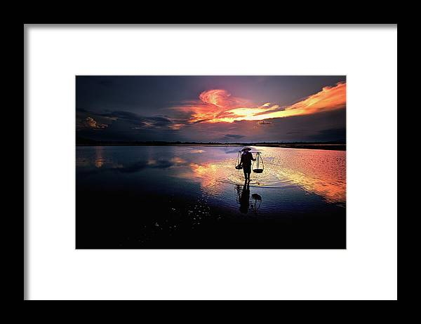 Sunset Framed Print featuring the photograph Sunset by Julayne Luu
