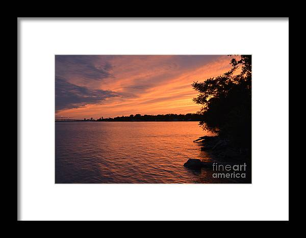 Sunset Framed Print featuring the photograph Sunset June 10, 2018 by Sheila Lee
