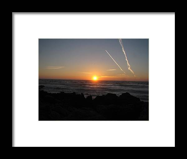 Framed Print featuring the photograph Sunset by Kavita Sarawgi