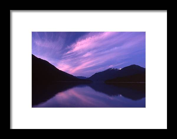 Landscape Framed Print featuring the photograph Sunset by Lyle Crump