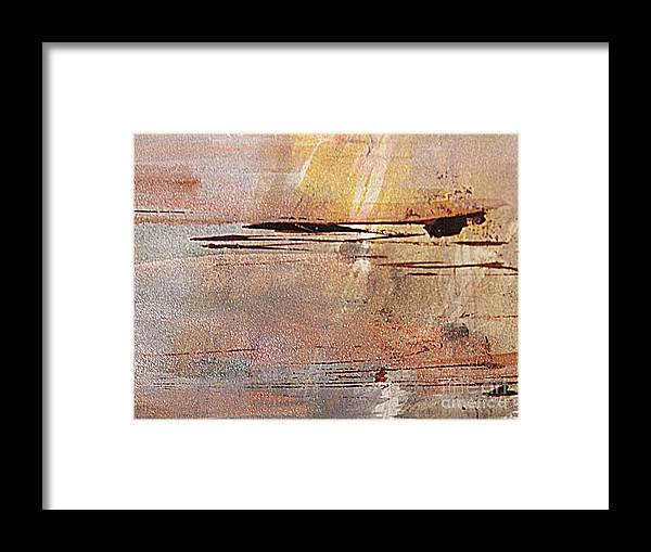 Abstract Metallic Watercolor Painting Framed Print featuring the painting Sunset Magic by Nancy Kane Chapman