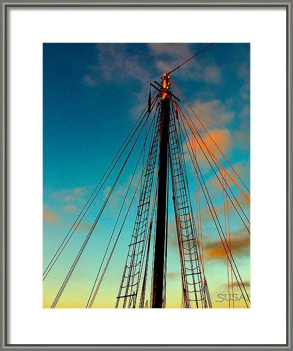 Sunset Mast by Susan Vineyard