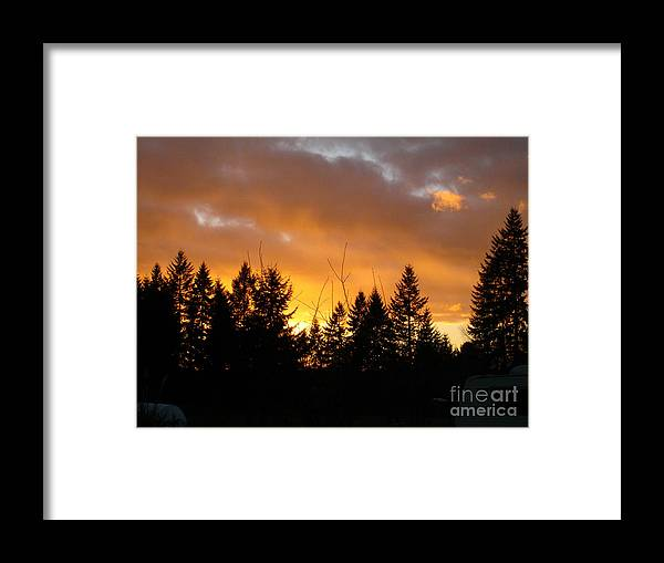 Sunset Framed Print featuring the photograph Sunset My Front Yard by Mary Jo Zorad