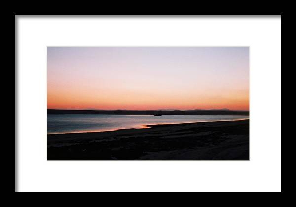 Sunset Framed Print featuring the photograph Sunset Near Ras Al-hadd In Oman by Gosta Eger