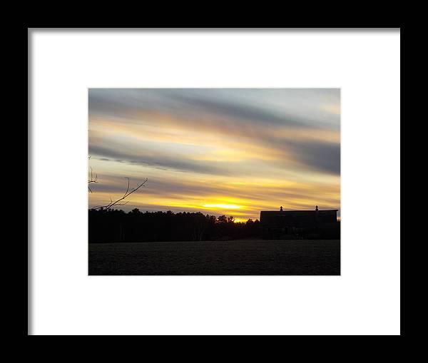 Farm Framed Print featuring the photograph Sunset Of The Farm by Lynn Sobecke