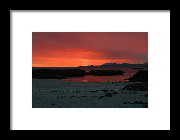Scotland Framed Print featuring the photograph Sunset On Arisaig by Mike Bambridge