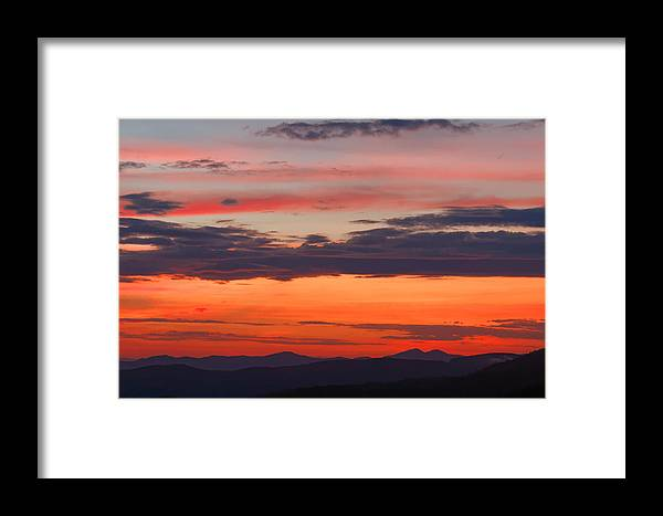 Landscape Framed Print featuring the photograph Sunset On Caney Fork Overlook by David Rowe