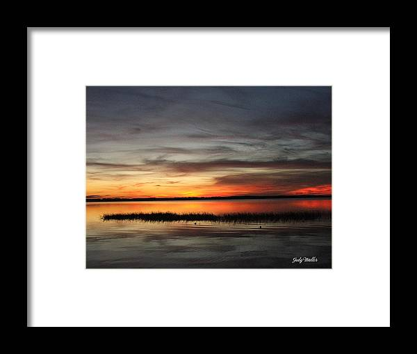 Sunset Framed Print featuring the photograph Sunset On Lake Lochloosa by Judy Waller