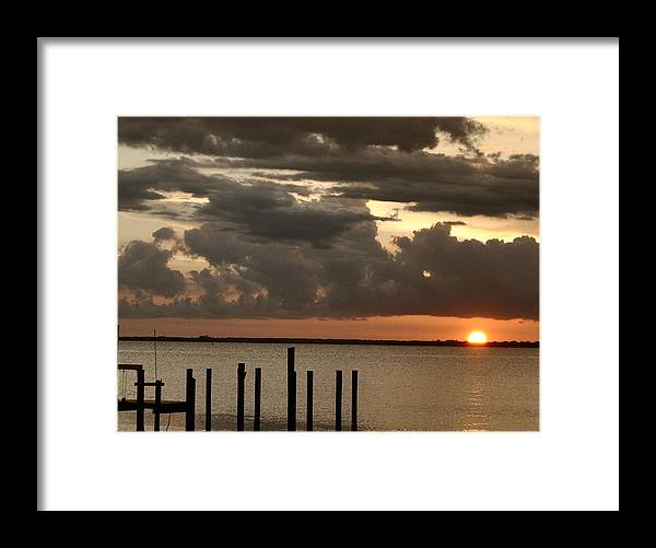 Sunset Framed Print featuring the photograph Sunset On Peace River by Sandy Poore