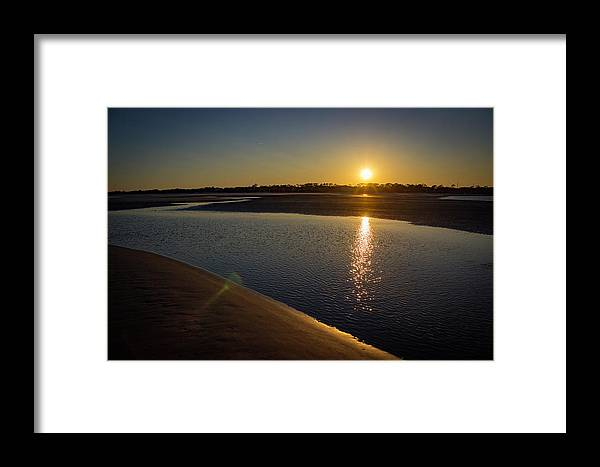 Landscape Photography Framed Print featuring the photograph Sunset On St. Simons Island by William Haas