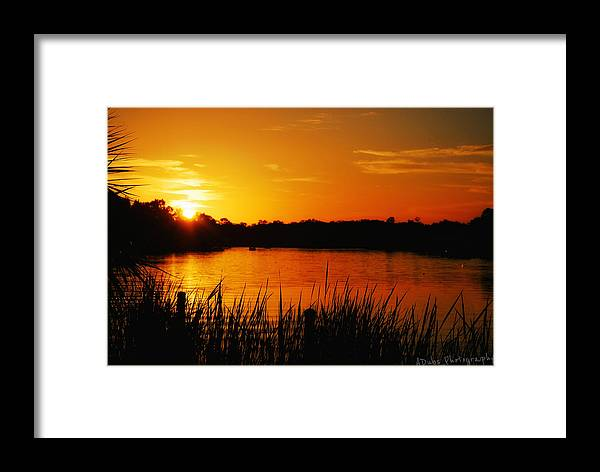 Sunset Framed Print featuring the photograph Sunset On The Alafia by Allen Williamson